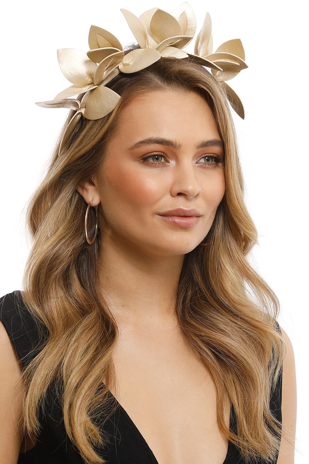 Morgan & Taylor - Lavina Fascinator - Light Gold - Front