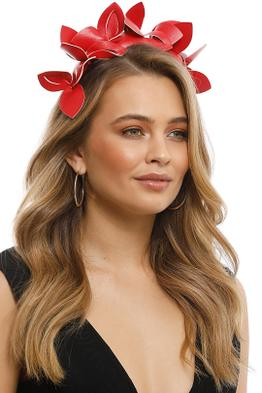 Morgan & Taylor - Lavina Fascinator - Red - Side Model