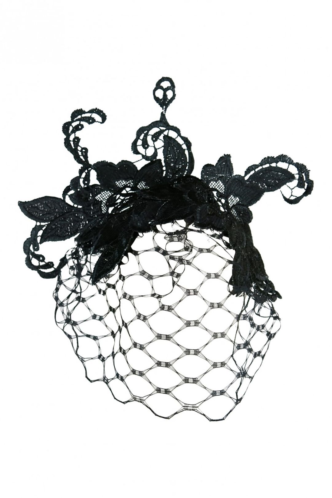 Morgan & Taylor - Portia Fascinator With Veil - Black - Front