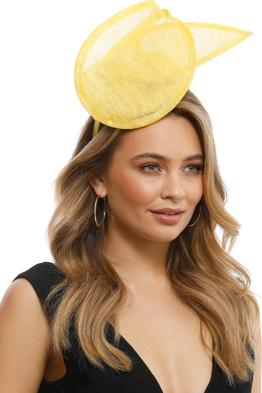 Morgan & Taylor - Ramona Fascinator - Yellow - Front
