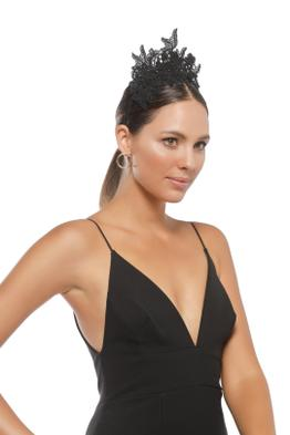 Morgan & Taylor - Sassi Fascinator - Black - Side Model