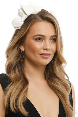 Morgan & Taylor - Sheridan Fascinator - White - Front