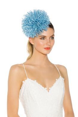 Morgan & Taylor - Sophia Fascinator - Blue - Side Model