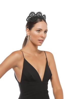Morgan & Taylor - Verona Fascinator - Black - Side Model