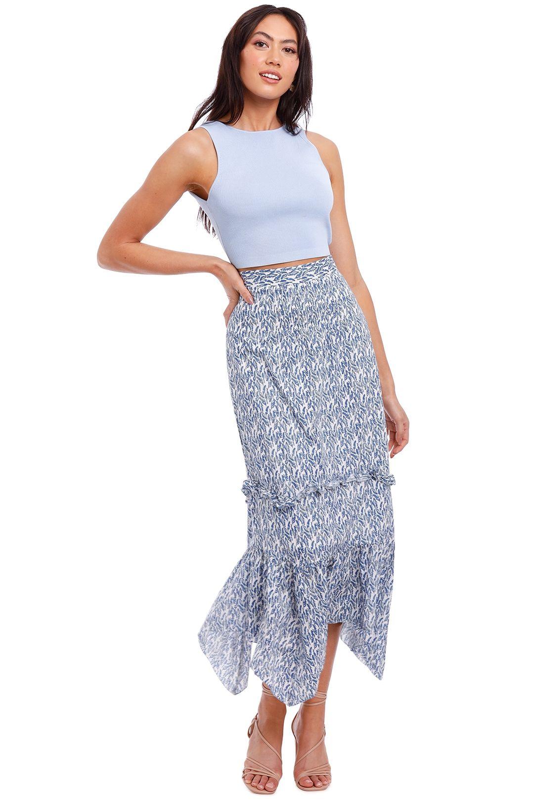 Morrison Belle Printed Maxi Skirt asymmetric