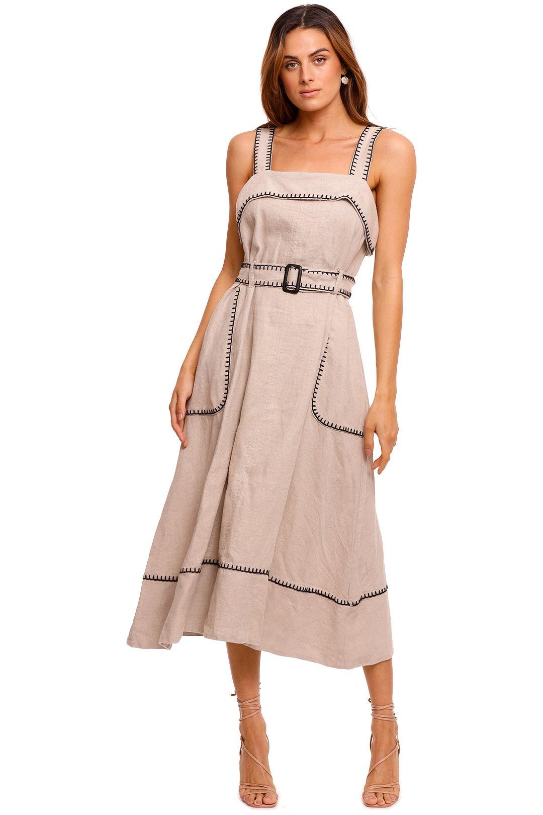 Morrison Marilyn Sleeveless Linen Dress midi