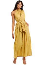 Morrison Neve Yellow Maxi Dress belted