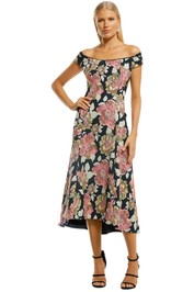 Moss-and-Spy-Beatrice-Midi-A-Line-Dress-Floral-Front