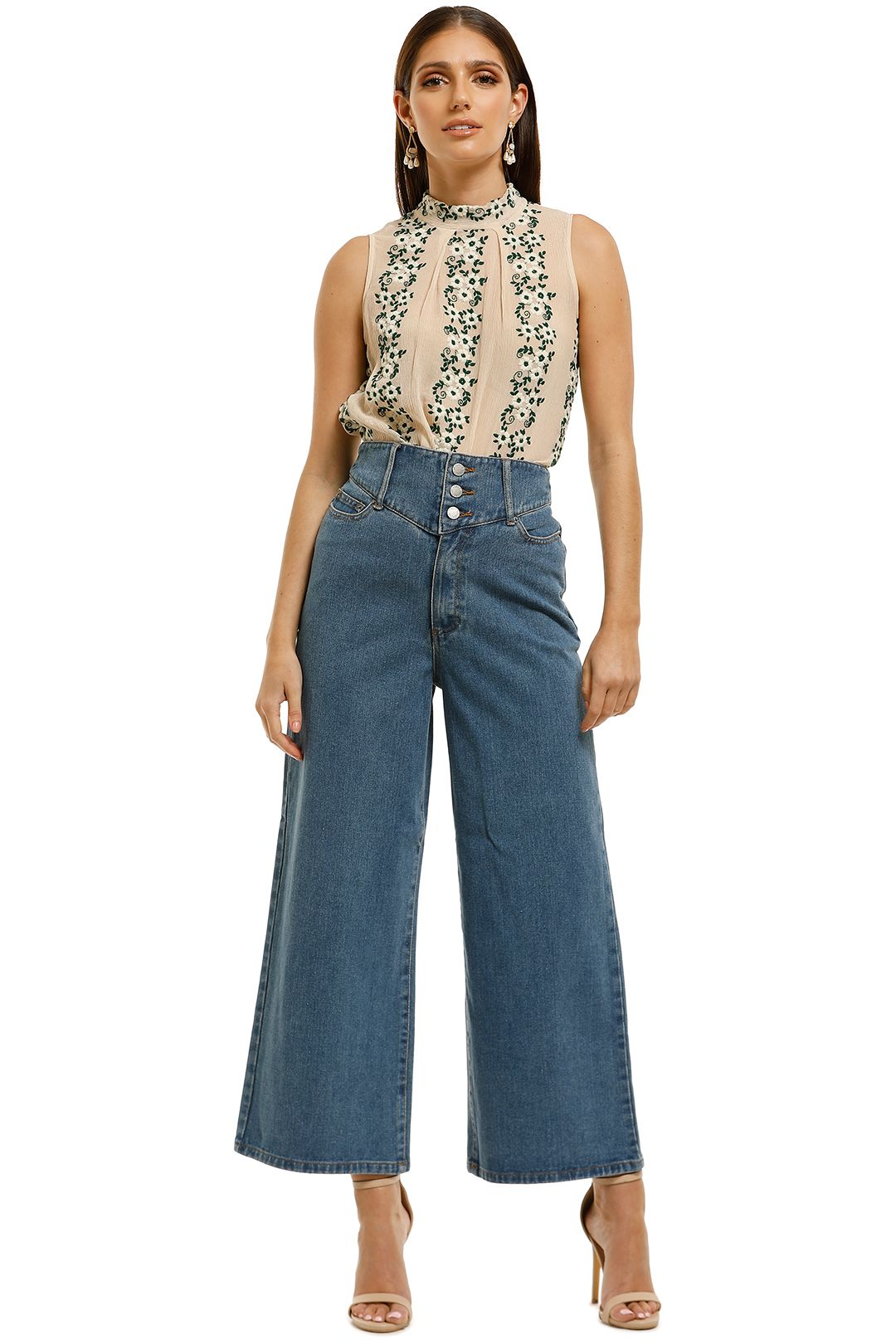 Moss-and-Spy-Daisy-Top-Embroidered-Floral-Front