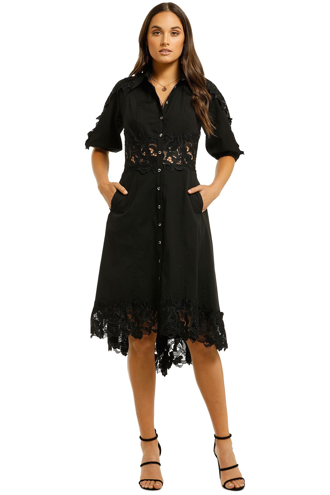 Moss-and-Spy-Evetta-Shirt-Dress-Black-Front