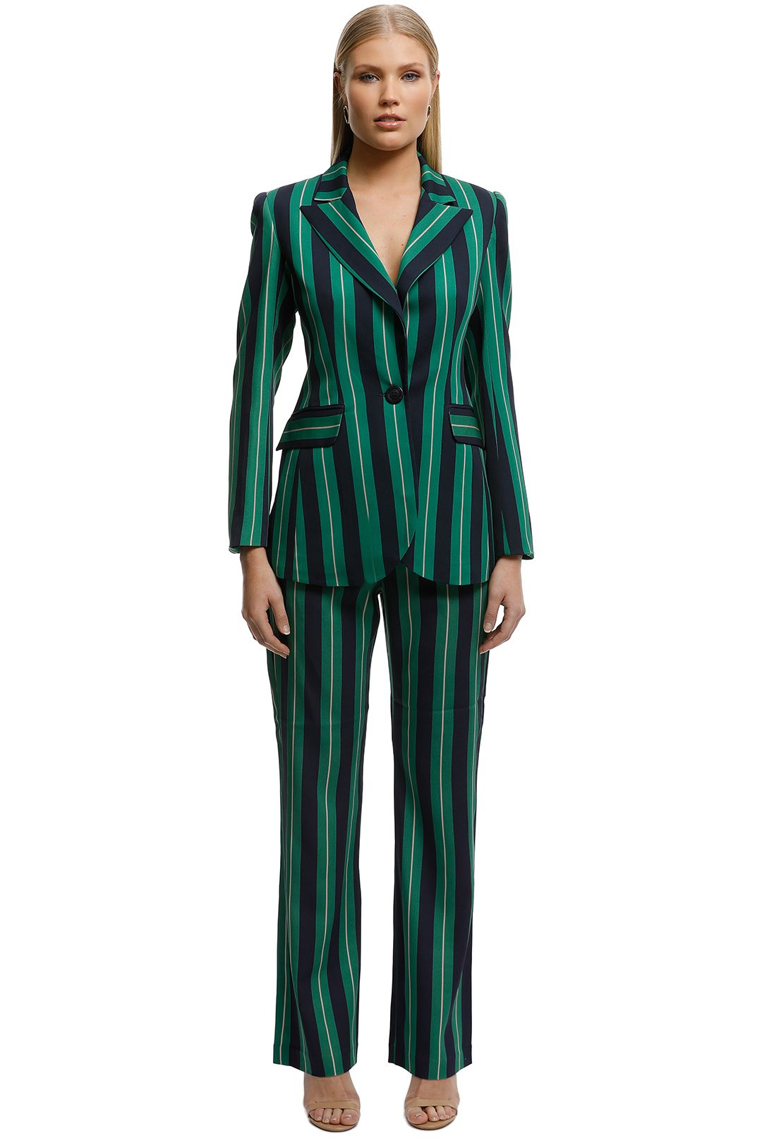 Moss-and-Spy-Gatsby-Blazer-and-Pant-Set-Green-Stripe-Front
