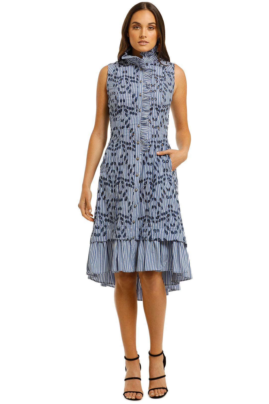 Moss-and-Spy-Ibiza-Shirt-Dress-Blue-Stripe-Front