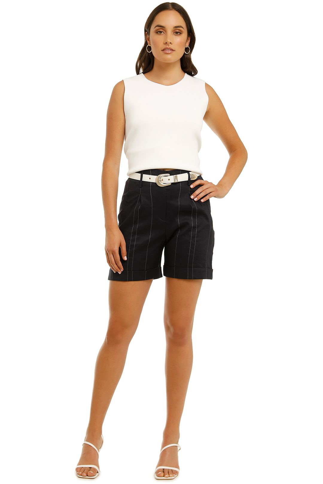 Moss-and-Spy-Marina-Short-Navy-Front