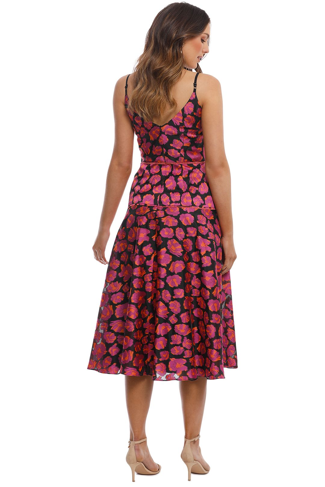 Moss and Spy - Lysander Dress - Pink Multi - Back