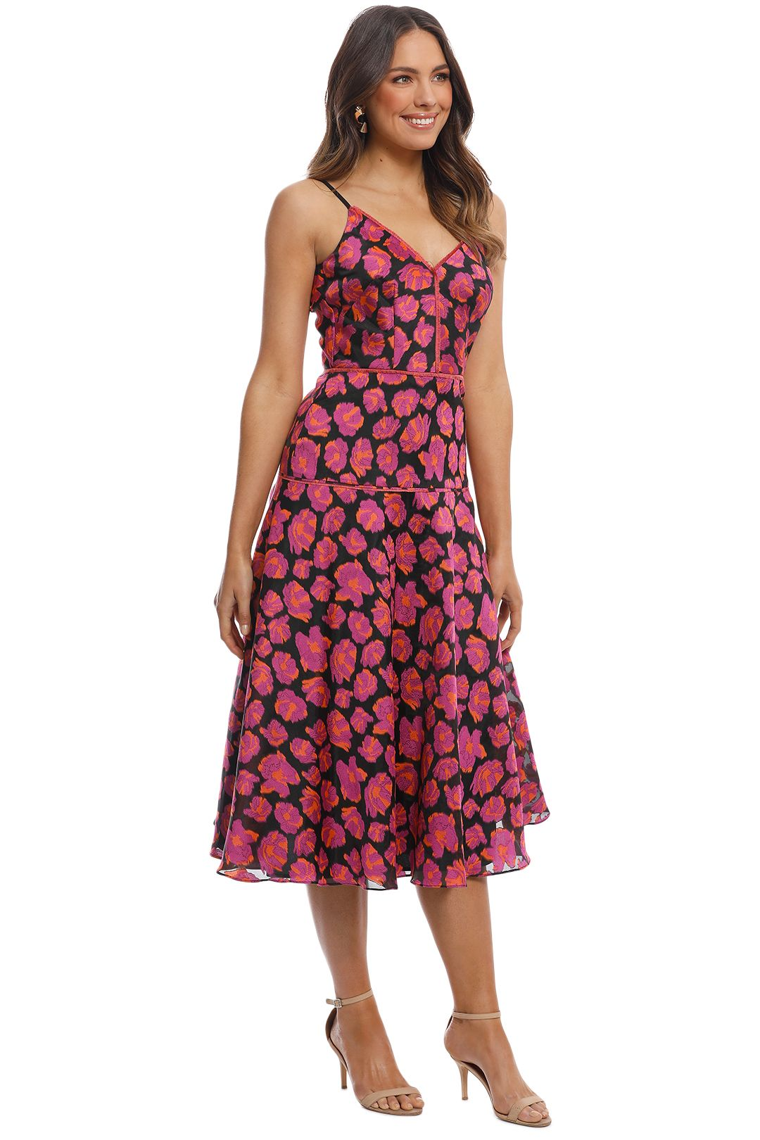 Moss and Spy - Lysander Dress - Pink Multi - Side