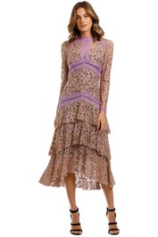 Moss and Spy Amber Tiered Dress Rose tiered