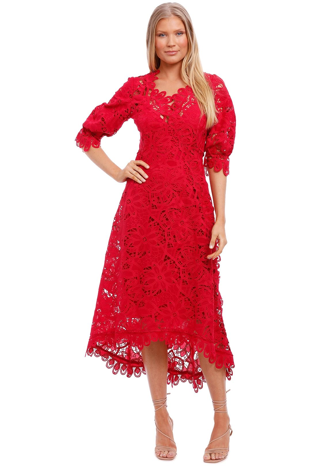 Moss and Spy Macgraw Short Sleeve Dress lace