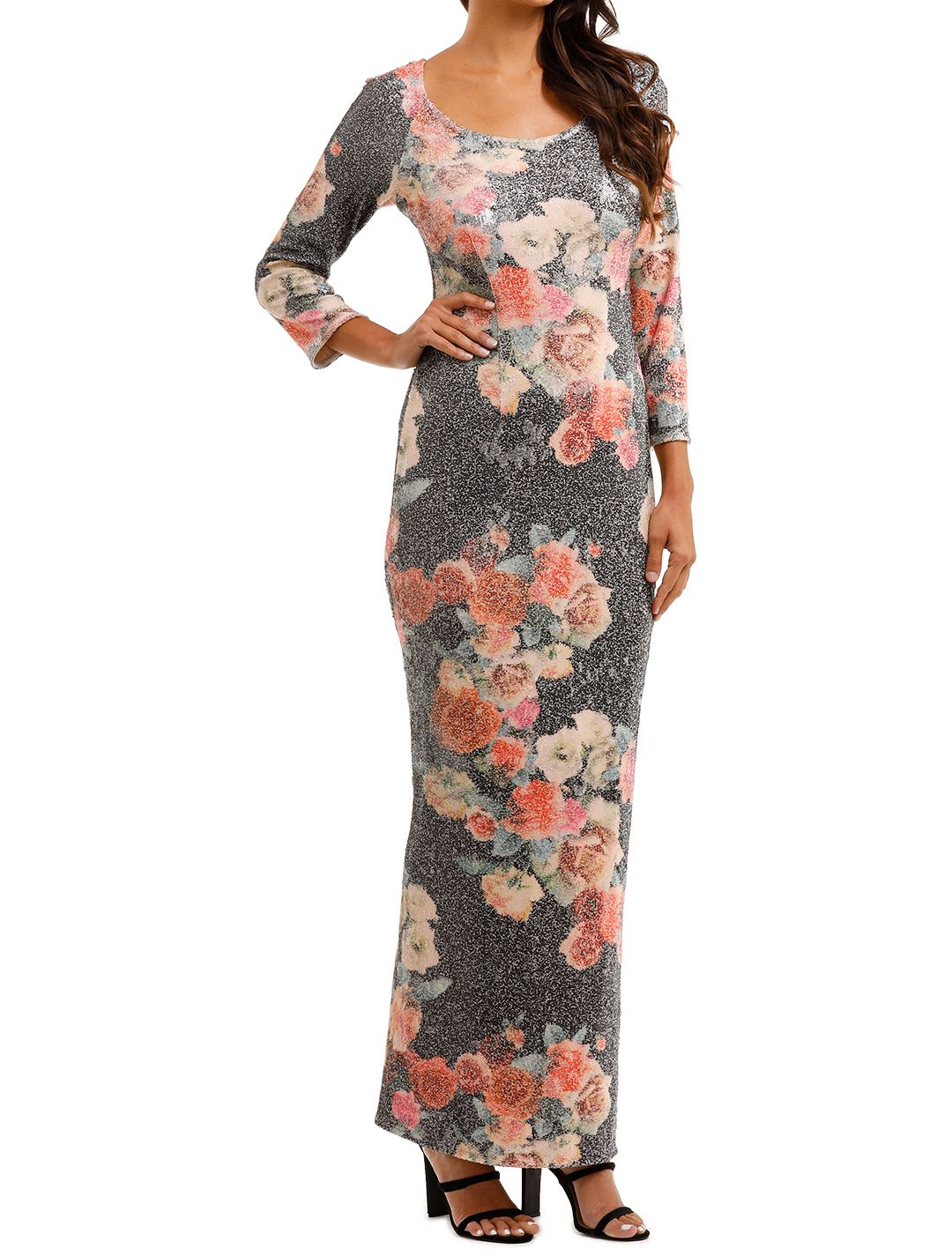 Moss and Spy	Matisse Gown Floral Multi Floor Length