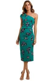 Moss and Spy One Shoulder shift Dress floral