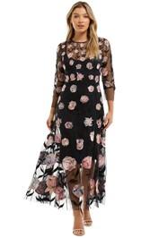 Moss and Spy Patricia Dress Sheer Midi