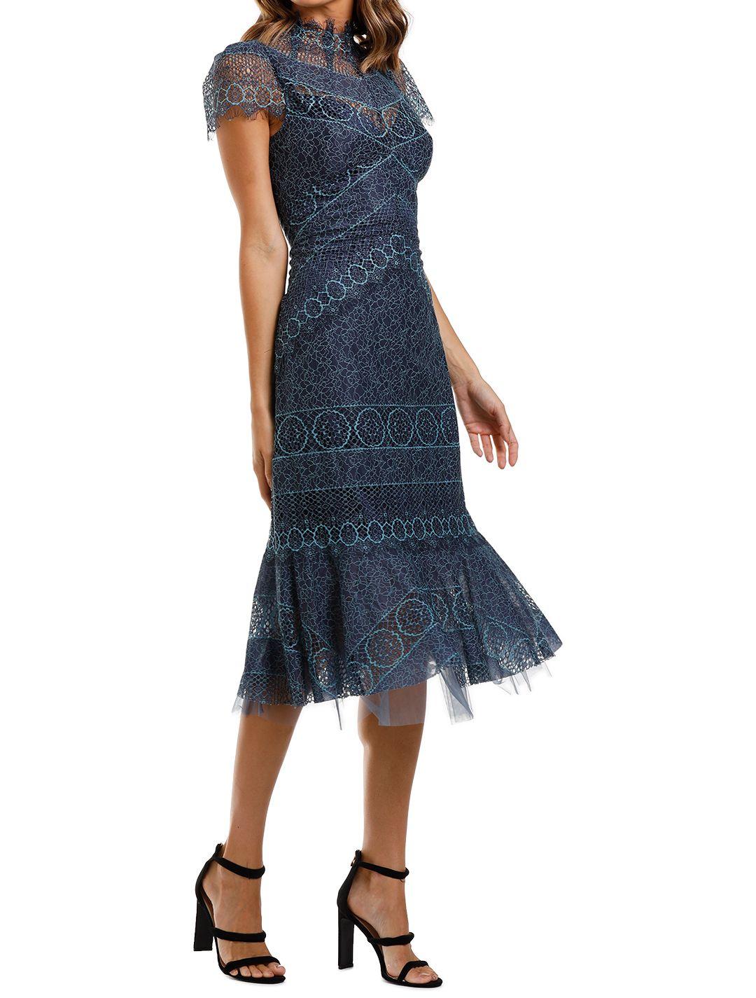Moss and Spy Riviera High Neck Dress Lace
