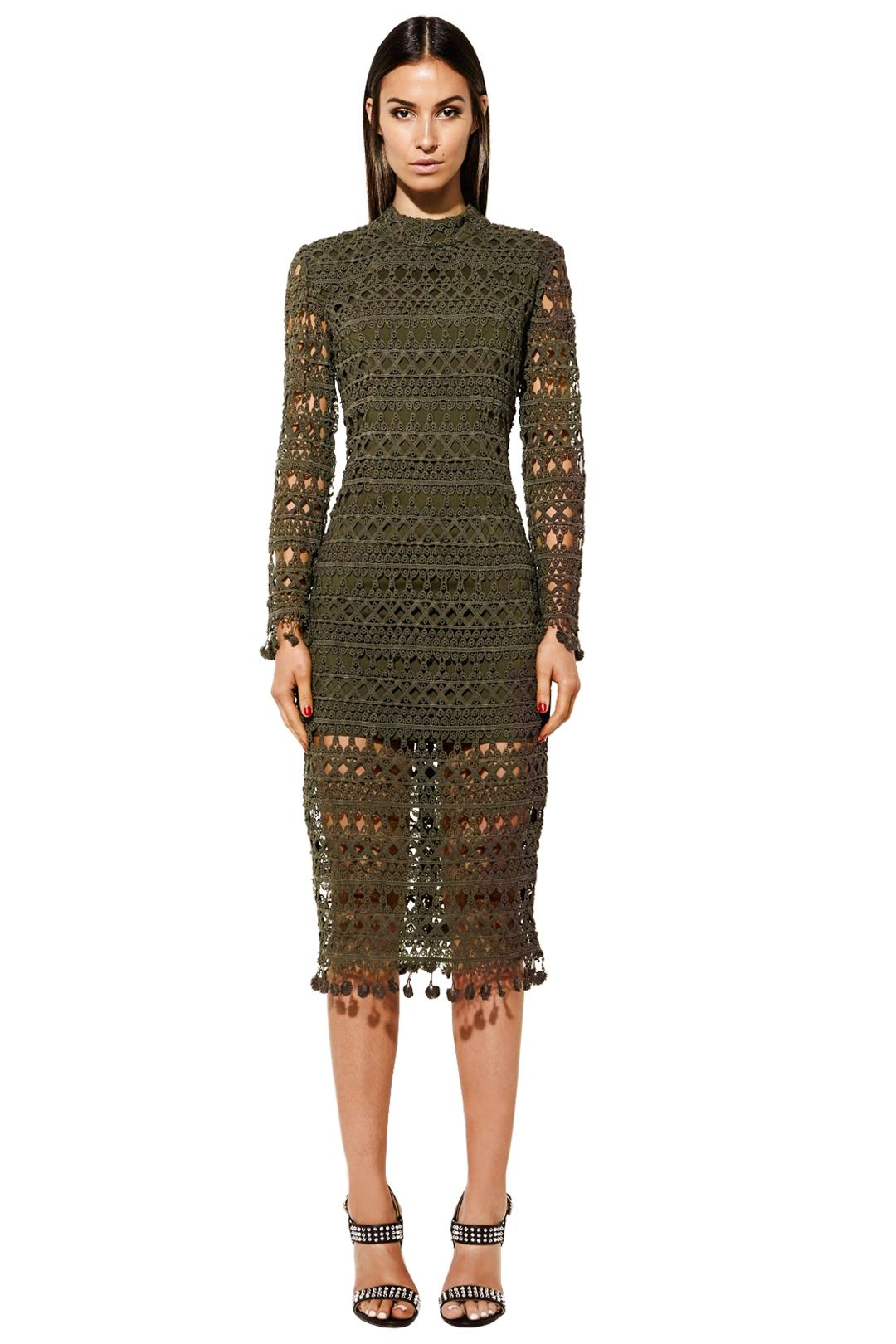 Mossman - See No Boundaries Dress - Khaki - Front