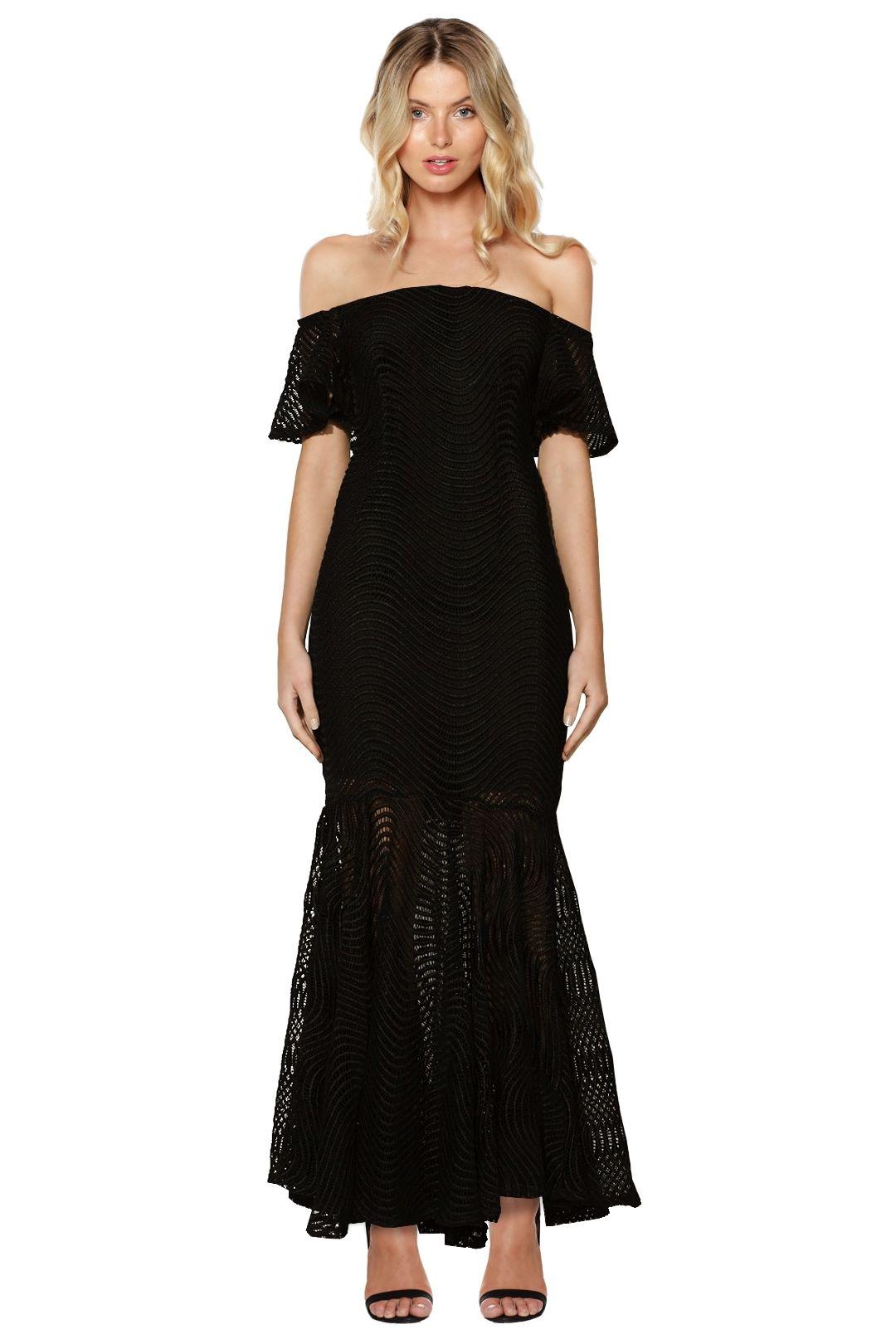 Mossman - Spinning the Web Dress - Black - Front
