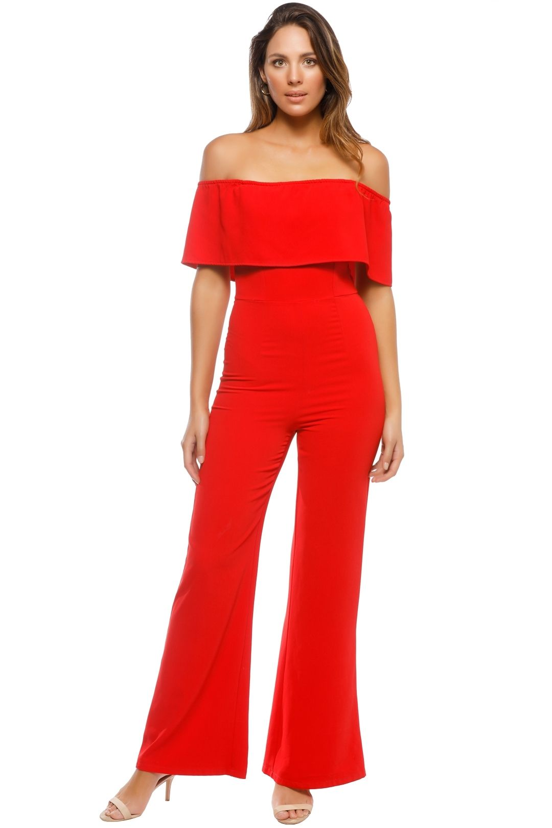 Mossman - The Blank Stare Jumpsuit - Red - Front