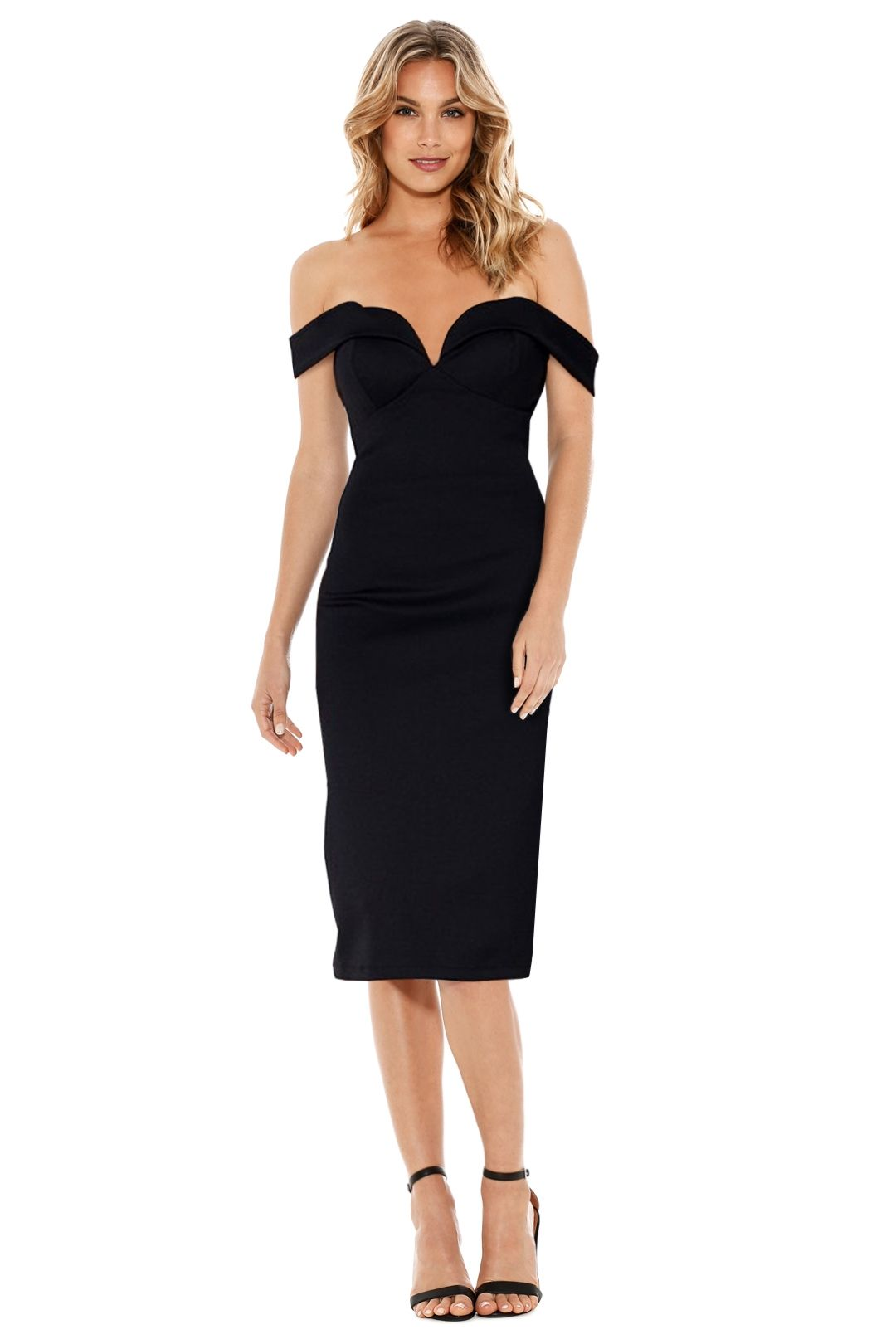 Mossman - The Love Letter Dress - Black - Front