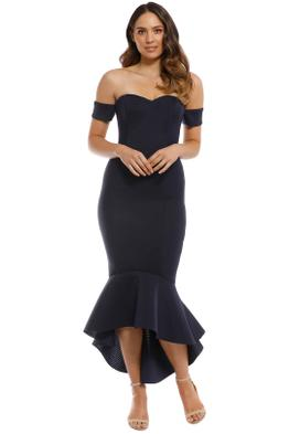 Mossman - The Lovers Rock Dress - Navy - Front