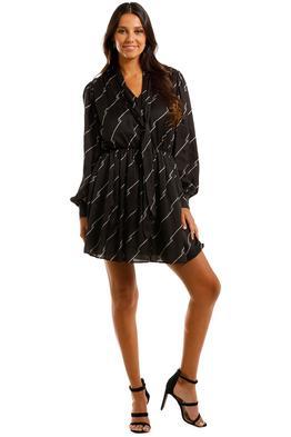 MSGM Logo Prints Dress Black Mini
