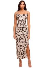 Nanushka Willow Slip Dress Porcelain Rose backless