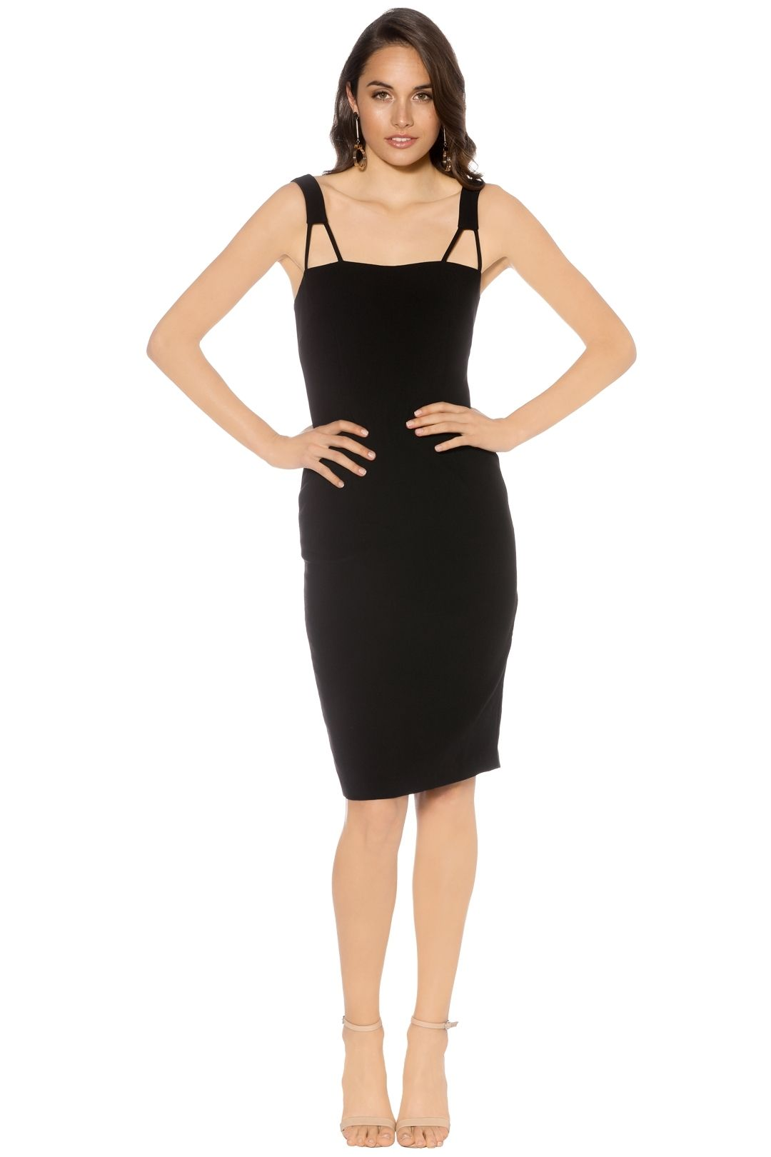 Natasha Gan - Simple Slip Dress - Black - Front
