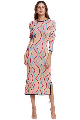 Never Fully Dressed Rainbow Swirl Knit Midi