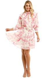 Nicholas-Abbey-Dress-Canister-Ivory-Toile-Print-Front