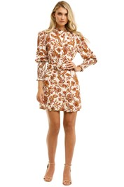 Nicholas-Agadir-Dress-Ivory-Paisley-Floral-Print-Front