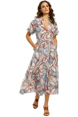 Nicholas-Amina-Dress-Mocha-Etched-Floral-Front