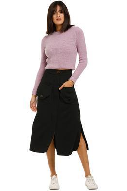Nicholas-Cargo-Skirt-Black-front