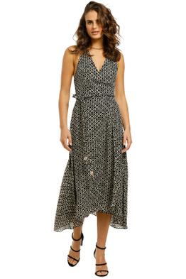 Nicholas-Cynthia-Dress-Black-Ikat-Diamond-Front