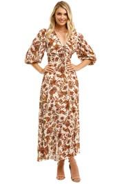 Nicholas-Danielle-Dress-Ivory-Paisley-Floral-Front