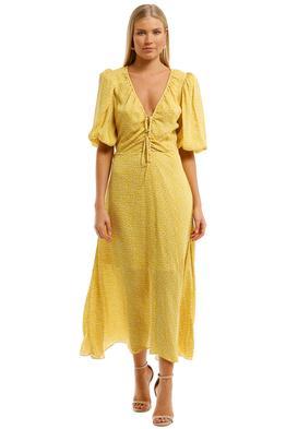 Nicholas-Danielle-Dress-Yellow-Front