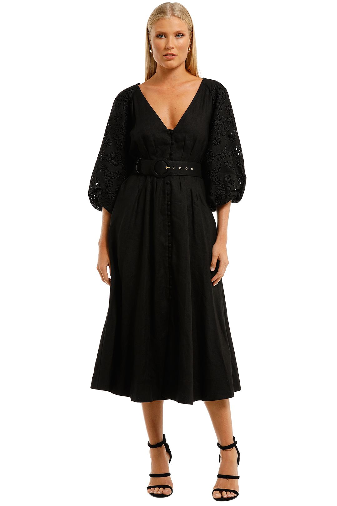 Nicholas-Hasina-Dress-Black-Front