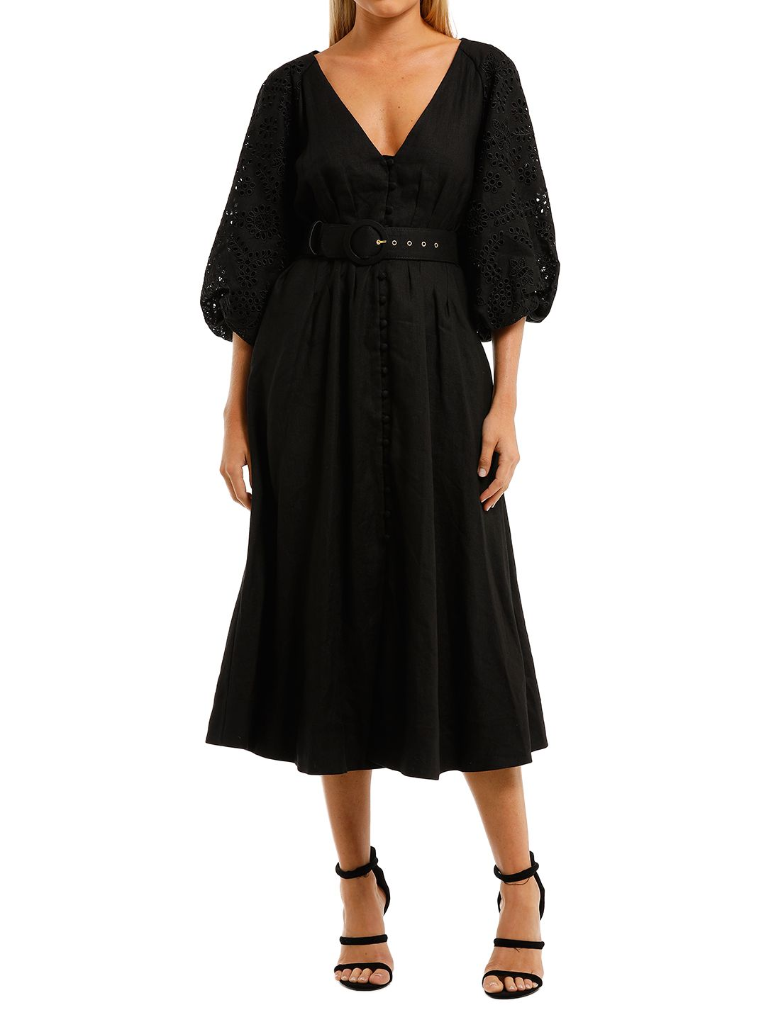 Nicholas-Hasina-Dress-Black-Front