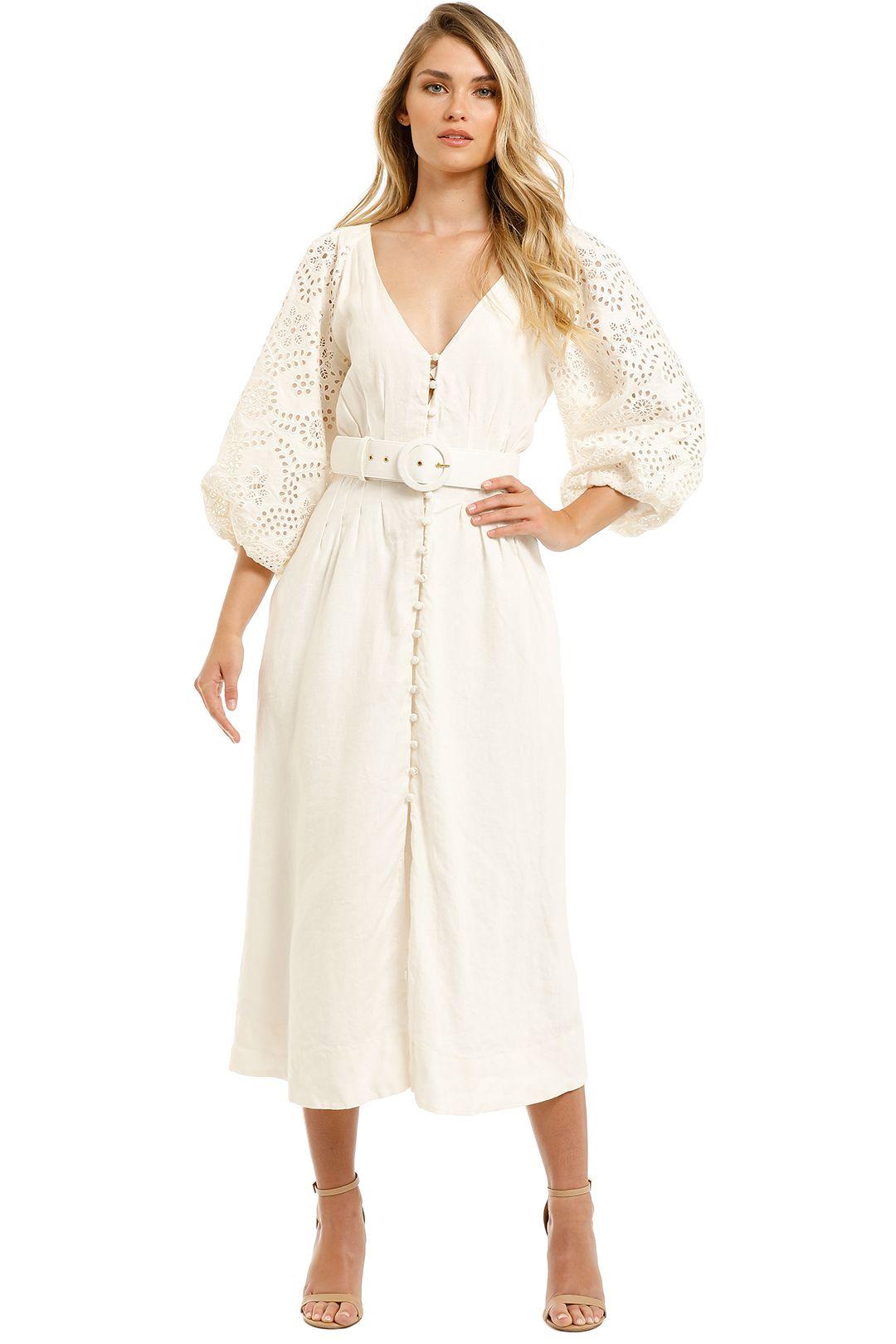 Nicholas-Hasina-Dress-Ivory-Front