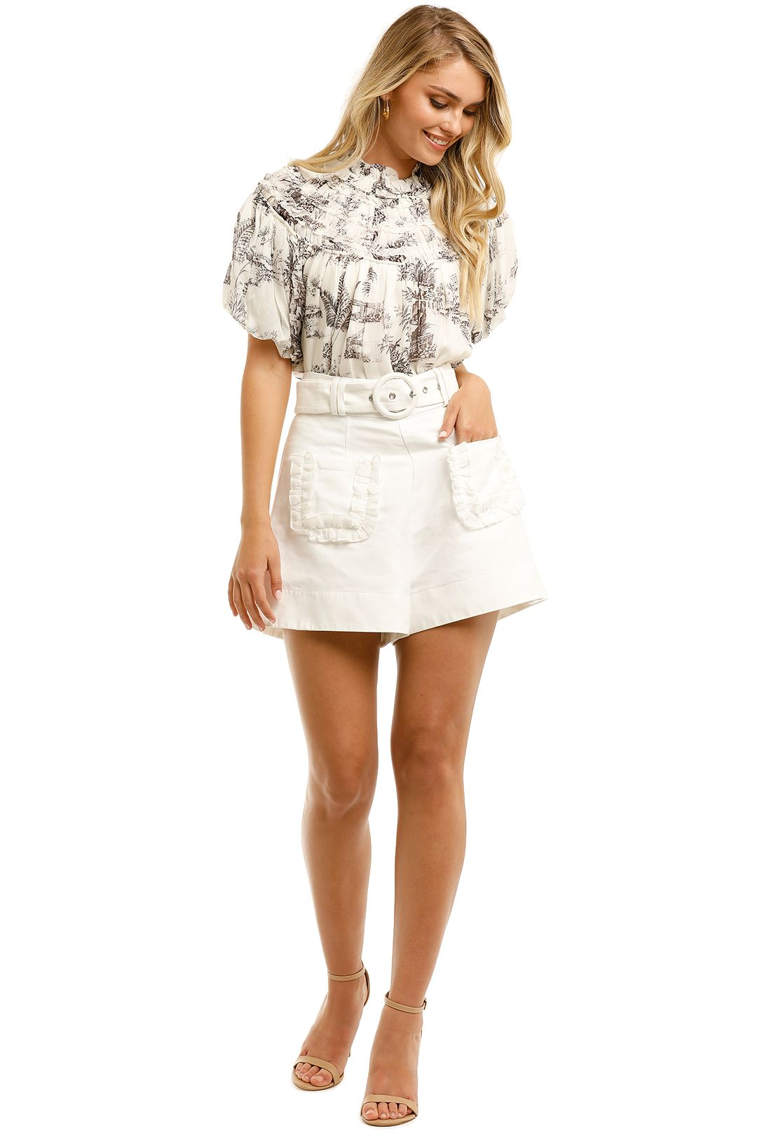 Nicholas-Jeanne-Top-Cacao-Ivory-Toile-Front