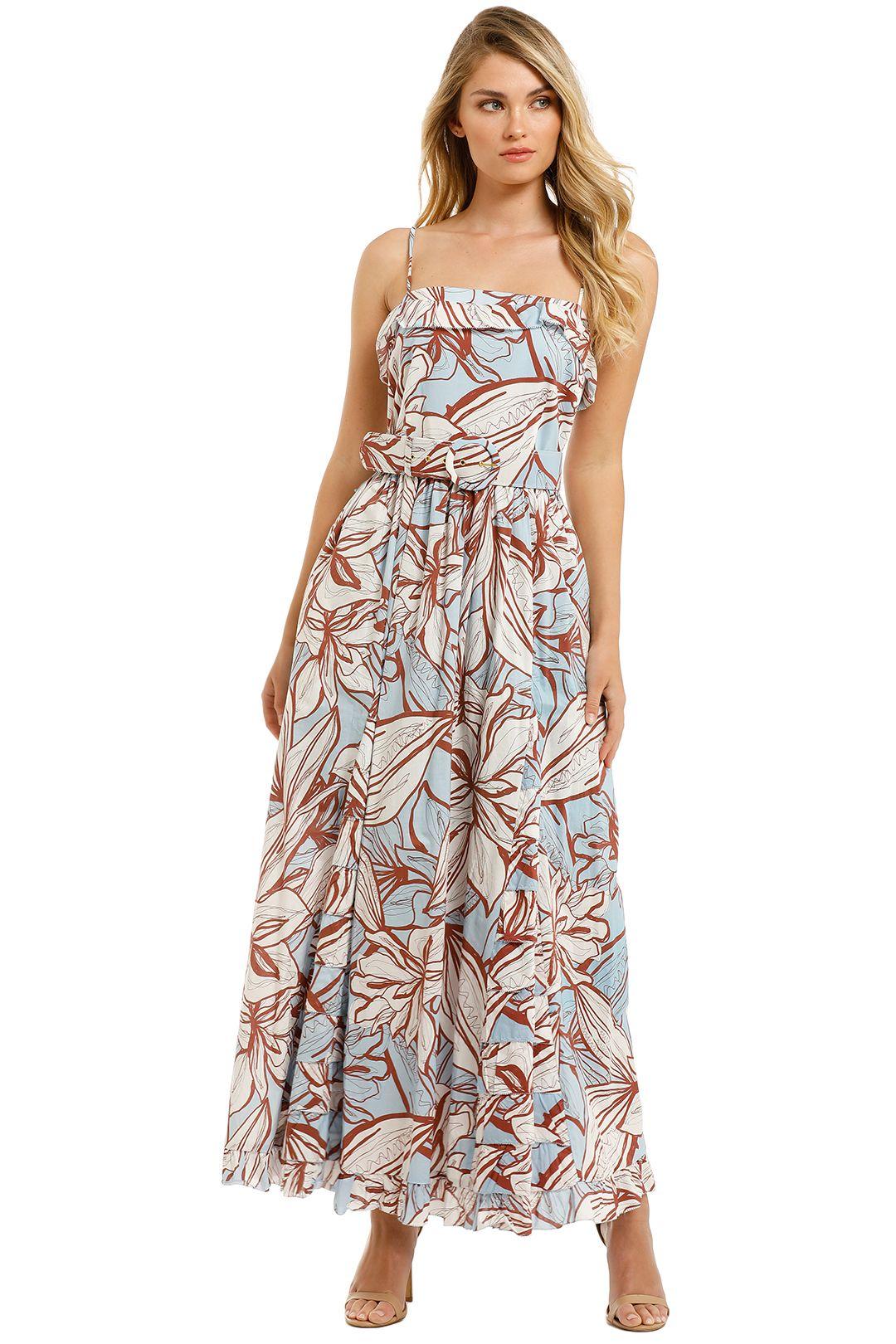 Nicholas-Julie-Dress-Mocha-Etched-Floral-Front