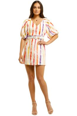 Nicholas-Shaanti-Dress-Brushed-Rainbow-Front