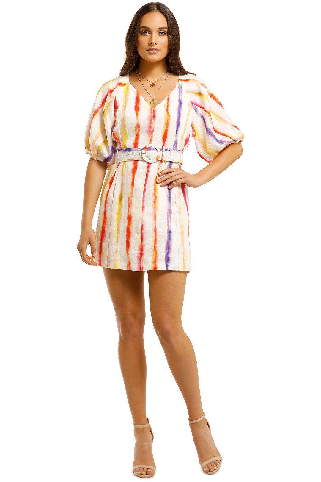 Nicholas-Shaanti-Dress-Brushed-Rainbow-Front