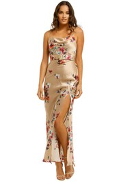 Nicholas-Simone-Dress-Watercolour-Taupe-Front