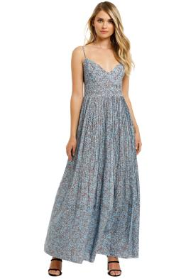 Nicholas-Susan-Dress-Slate-Blue-Floral-Front